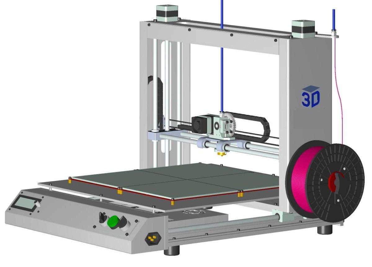 impressora 3d autocad bitcorte