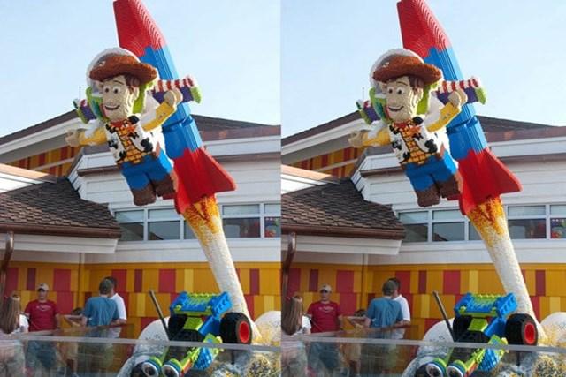 woddy toy story feito de lego