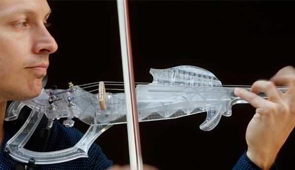 violino impresso em 3D