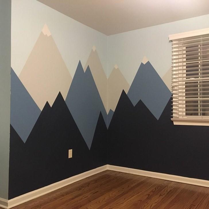 decoração quarto montanhas